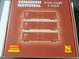 Micro-Trains # 99301870 Canadian National 60' High Cube Boxcar 3/Pack N-Scale image 1