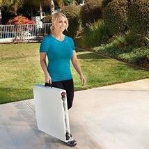 Outdoor Folding Utility Table Patio Garden Camping Height Adjustable Lig... - $58.54