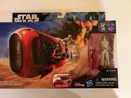"Star Wars The Force Awakens Rey's Speeder with Rey (Jakku) 3.75"" Figure NEW - $16.99"
