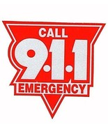 """EMERGENCY CALL 911 Highly REFLECTIVE Vehicle Decal  2"""" RED AND SILVER CA... - $3.91"""