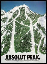 Absolut Peak Mountain Ski Slope 1994 Photo Ad Absolut Vodka - $14.99