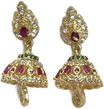 Ea  e256  Bollywood Fashion Polki Earring Set. Indian Party wear Jewelry. - $24.99