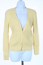 Ralph Lauren Pullover Zopfmuster Mittleres Gewicht Gelb Größe Mittelgroß M B75 - $19.22
