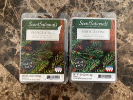 NEW SCENTSATIONALS PERFECTLY PINE WAX CUBE MELTS - 5 OZ. - LOT OF 2 PACK... - $16.82