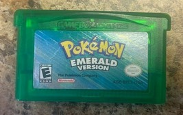 ORIGINAL AUTHENTIC Pokemon Emerald Version Can Save with New Battery GBA - $79.19