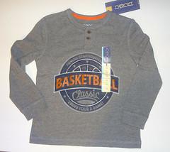 Cherokee Toddler Boys Gray Longsleeve Shirt   Size-5T  NWT (Basketball ) - $6.30