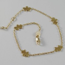 18k YELLOW GOLD BRACELET SMOOTH BRIGHT WITH DOG, PUPPY, TERRIER MADE IN ITALY image 1