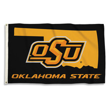 Oklahoma State Cowboys With State Outline 3'x5' Flag with Grommets  - $35.95