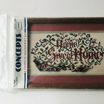 Concepts Needlecraft Kit Counted Cross Stich Home Sweet Home Vintage Wit... - $21.78