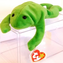 TY BEANIE BABIES 1993 SN 4020 – Legs the Frog – RETIRED - MWMT - $989.70