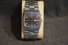 Russian Vintage Mechanical Soviet Watch Slava Automatic Black Dial Slava... - $29.56