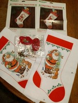 Lot 2 Presents from Santa Felt Stocking Kits Christmas Traditions Wonder... - $9.74