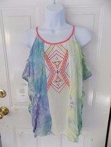 Flying Tomato Multi Colored Batwing Shirt Size M/L Women's NWOT - $31.98