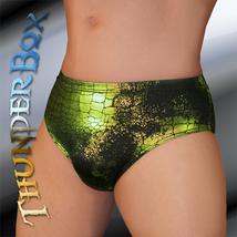 ThunderBox Nylon Spandex Lime Reptile Posers, Wrestlers, Swim Briefs S,M,L,X - $23.00