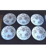 J G Meakin Chatsworth Multicolor Fruit Dessert Bowls 6 Pcs  - $14.95