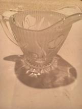 Vintage Depression Glass JEANNETTE Iris & Herringbone Pattern Creamer - $5.00