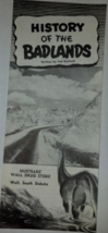 Vintage History of the Badlands travel brochure - $4.86
