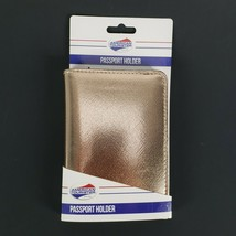 "Rose Gold Passport Holder Protects RFID Chips Travel Organizer New 4x6"" - $9.47"