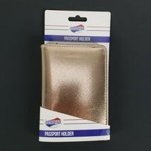 "Rose Gold Passport Holder Protects RFID Chips Travel Organizer New 4x6"" - $9.47"