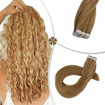 Hetto Tape on Real Hair Extensions #27 Blonde Tape in Hair Seamless Extensions 1 image 1
