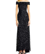 Adrianna Papell Women's Off The Shoulder Crunchy Bead Gown - $135.17+