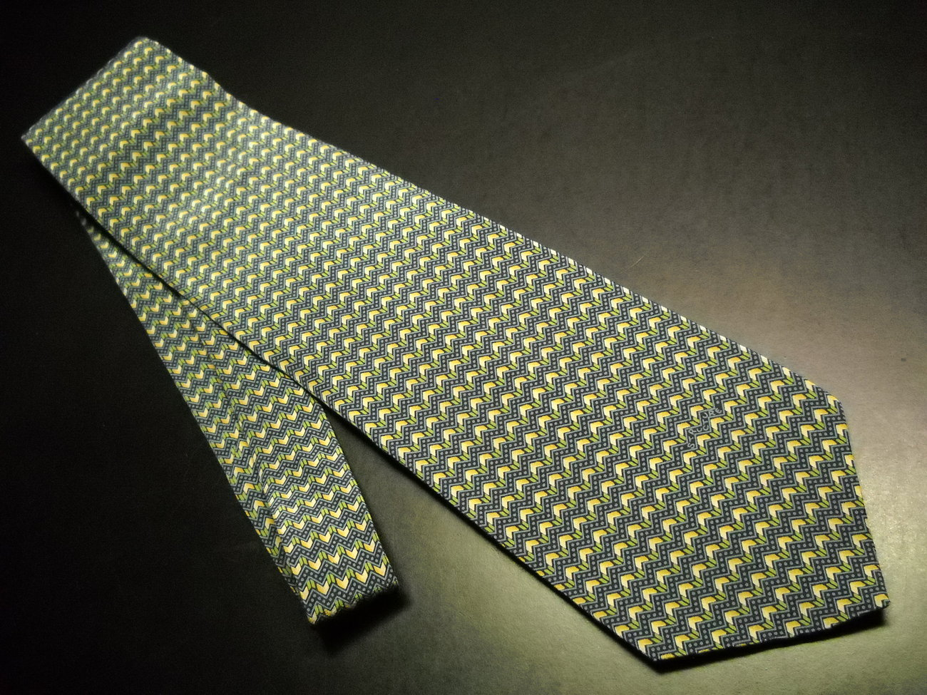 Tie structure bands of greens   golds new  01