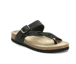 Women's White Mountain Crawford Thong Sandal, Size: 6 M, Black Nubuck - $39.99