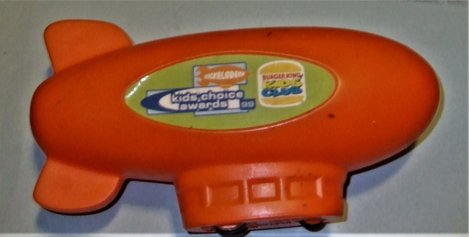 Nickelodeon Vintage 1999 BURGER KING MOTORIZED WIND UP ORANGE BLIMP image 5