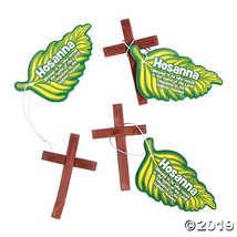 Wooden Crosses with Hosanna Palm Leaf Card - $9.11