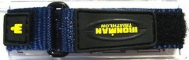 Timex 12-16MM Blue Yellow Ironman Triathlon Fast Wrap Hook Loop Watch Band Strap - $14.84