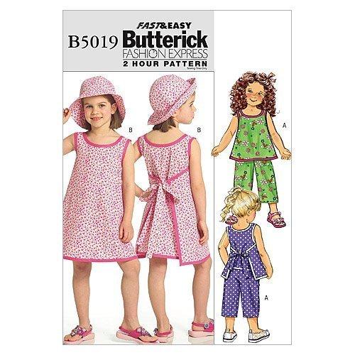 Butterick Patterns B5019 Children's/Girls Top, Dress, Pants and Hat, Size CDD (2 - $14.70