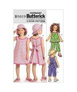 Butterick Patterns B5019 Children's/Girls Top, Dress, Pants and Hat, Siz... - $14.70
