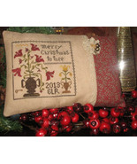 Merry Christmas To Thee cross stitch chart Abby Rose Designs - $7.65