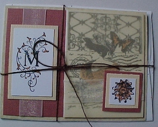 Mother's Day Card with envelope in cellophane sleeve