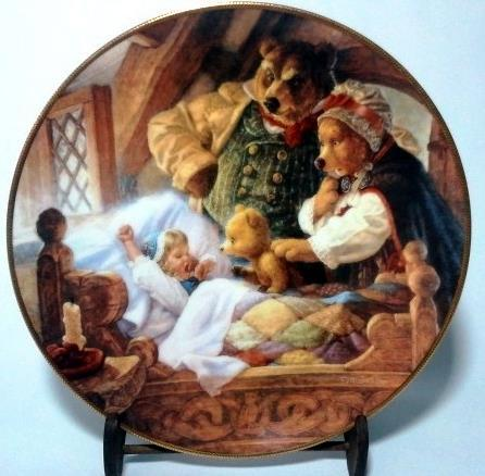Goldilocks and the Three Bears Knowles Collector Plate 1991