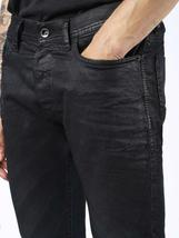 NEW DIESEL MEN'S DESIGNER SLIM CARROT LEG TEPPHAR BLACK JEANS 0669G_STRETCH image 5