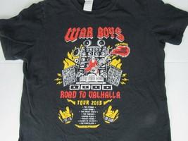 War Boys Warboys Group T-Shirt  Road to Vahalla Tour Size Medium Gore AM/FM - $9.85