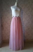 Pink Long Tulle Skirt Bridesmaid Tulle Skirt High Waisted Bridesmaid Outfit image 10