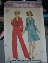 Simplicity 6507 Misses 2-Piece Dress & Pantsuit Pattern - Size 14 Bust 36 - $8.90