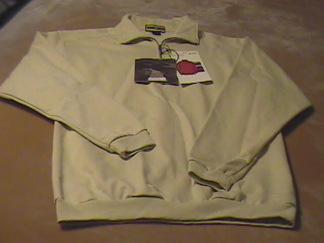 Athletic sweat shirt north end new with tags medium sand 01