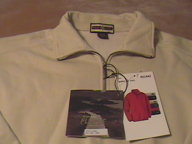 North End Fleece Pullover Sweat Shirt Unworn with Tags Medium Size Sand Color