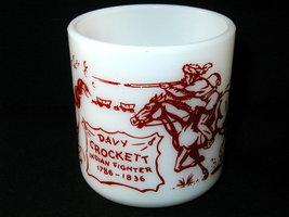 Hazel Atlas Red Transfer Davy Crockett Child's Mug - $20.00