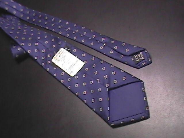 Egon Von Furstenberg Neck Tie Silk Dark Blue New with RetailTag Attached