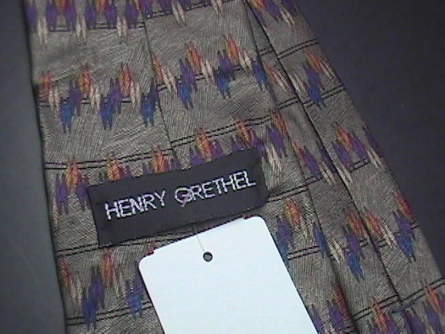 Henry Grethel Neck Tie Greens Extra Long Never Worn and Unused with Tag
