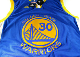 STEPHEN CURRY / AUTOGRAPHED G.S. WARRIORS BLUE SWINGMAN JERSEY / PSA/DNA & JSA image 2