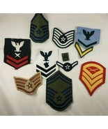 Lot of 11 Military Patches Army Private Air Force Sergeant Blue White Re... - $7.91
