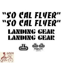 SE BIKES SO CAL FLYER BLACK STICKERS DECAL SET - $19.79