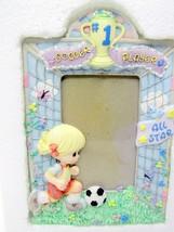 Precious Moments 316555 Girl Soccer Player Photo Frame 1997 - $14.24