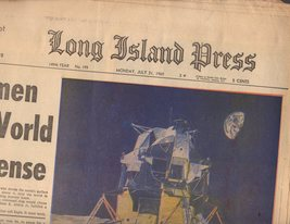 Long Island Press Newspaper 7/21/69 - $4.90