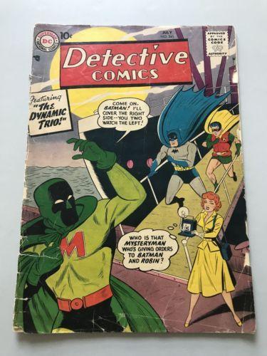 Detective Comics (1937 1st Series) #245 Spine Split Loose Cover FN Fine